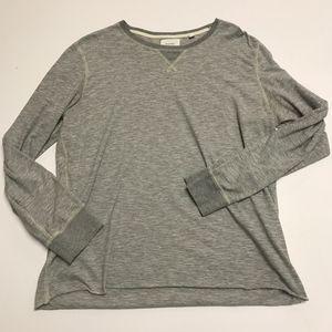 Billy Reid Cotton Blend Long Sleeve Tee Shirt Top